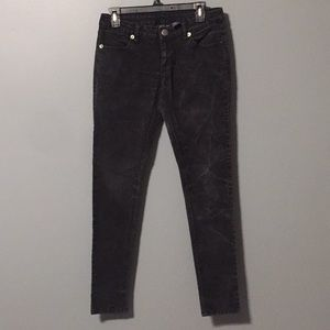 City Streets black washed out jeans size 7